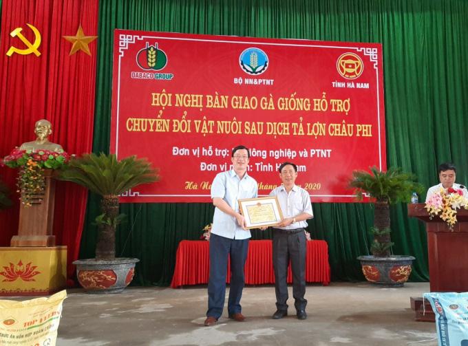 Hà Nam hỗ trợ chuyển đổi vật nuôi sau dịch tả lợn Châu Phi
